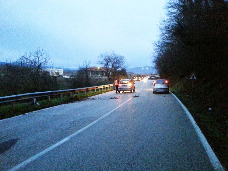 Montaquila: incidente all'altezza di Masserie La Corte. Sul rettilineo nei pressi di Ricci si sono scontrate due auto