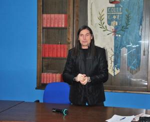 Emilio Izzo durante l'incontro