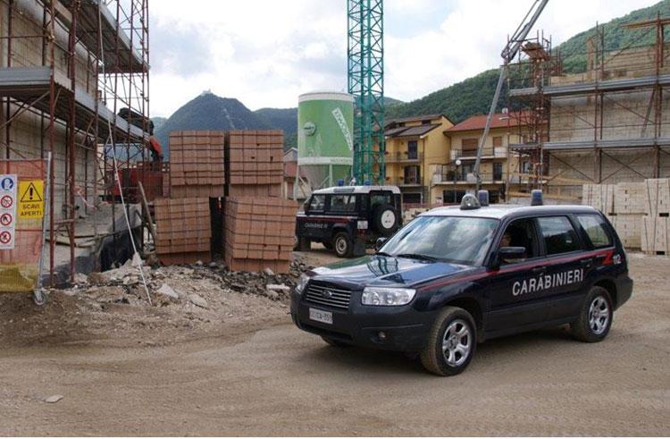 Isernia: vasta operazione dei Carabinieri contro l'abusivismo edilizio e la tutela del paesaggio. Indagini in corso presso venti comuni.