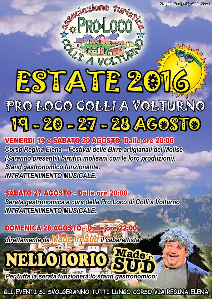 Locandina estate 2016 Pro Loco Colli