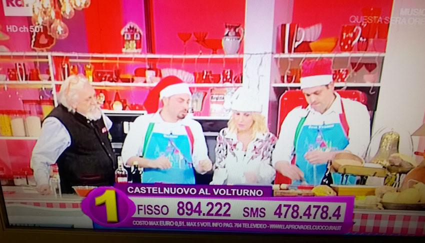 Castelnuovo al Volturno: Stefano Rufo il prossimo 13 gennaio sfida il Piemonte alla Prova del Cuoco. Il campione in carica alla terza partecipazione televisiva.