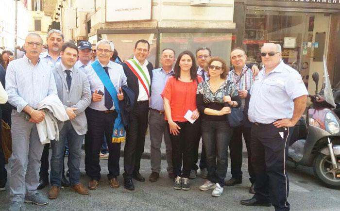 Mobilitazione delle Province italiane. Coia e Via Berta manifestano a Roma.