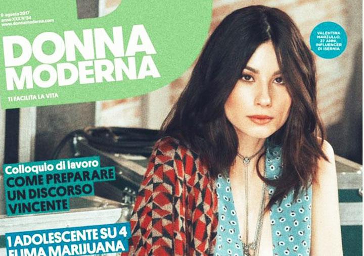"""Da Colli a Volturno alla copertina di """"Donna Moderna"""". Il grande salto di Valentina Marzullo."""