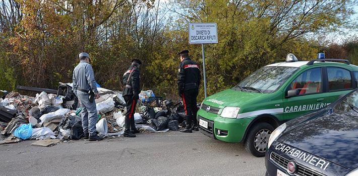 Isernia: Vasta operazione dei Carabinieri a tutela dell'ambiente, cinque persone denunciate, una discarica abusiva sottoposta a sequestro.