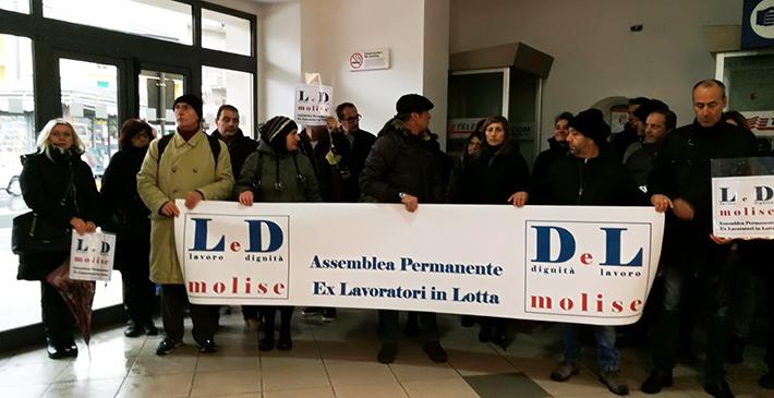 Gli Ex Lavoratori in lotta tornano a far sentire la loro voce. Domani nuova assemblea presso la Provincia di Isernia.