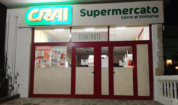 Cerro al Volturno: la spesa è di casa grazie all'apertura del supermercato Crai. L'iniziativa imprenditoriale di Ernesto Taglienti.