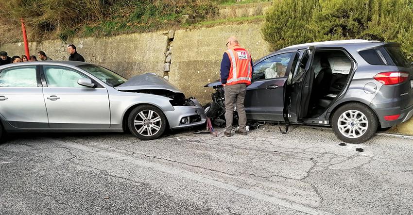 Cerro al Volturno: violento incidente alle porte del paese. Due automobili coinvolte in un sinistro. Una delle due esce fuori strada.