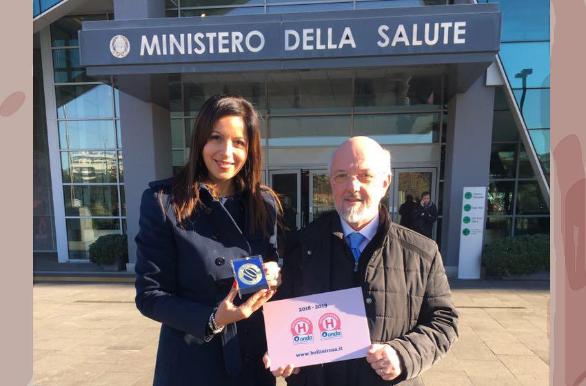 Pozzilli: Onda Premia l'IRCSS Neuromed con i bollini rosa.
