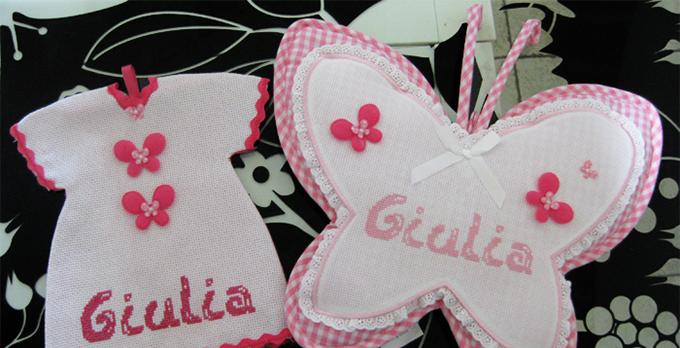 L'Angolo degli Auguri: fiocco Rosa per la nascita della piccola Giulia.