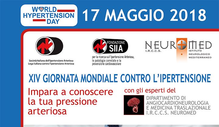 Pozzilli: al Neuromed si celebra la giornata mondiale dell'Ipertensione. Giovedì 17 maggio screening gratuiti con consulto medico.