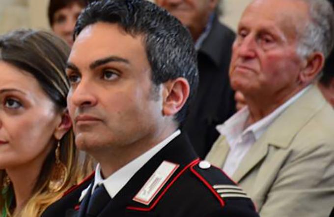 Anniversario della nascita dell'Arma dei Carabinieri, riconoscimento per il maresciallo Antonio Corvaglia, comandante della stazione di Castel San Vincenzo.