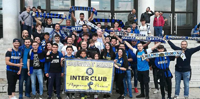 Acquaviva d'Isernia. a fine luglio s festeggiano i nove anni di attività dell'Inter Club. Un sodalizio unico e compatto nel nome dell'amicizia.