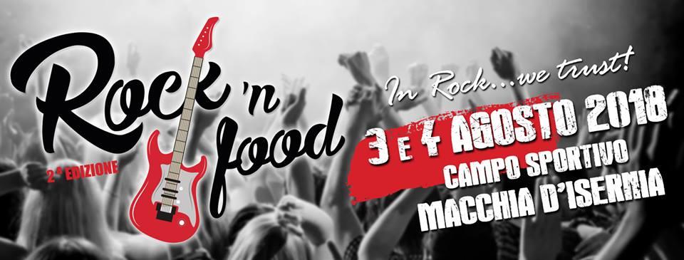 Macchia d'Isernia: questa sera la seconda edizione del Rock 'n food. Evento promosso da Comune e Pro Loco.