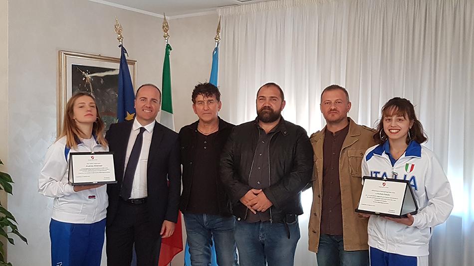 Campobasso: il presidente Micone ha ricevuto le atlete molisane che hanno rappresentato l'Italia ai campionati del Mondo di Kickboxing (WAKO) che si sono svolti a Jesolo.