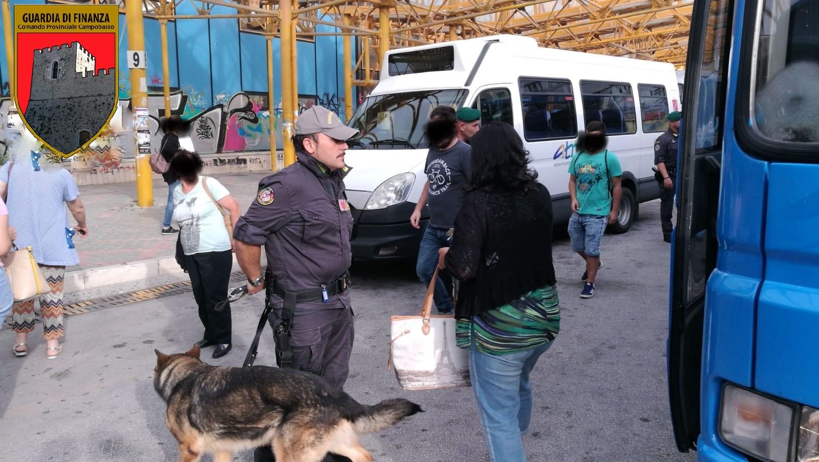 Campobasso:apertura scuola, la Finanza controlla e presidia i punti sensibili della città.