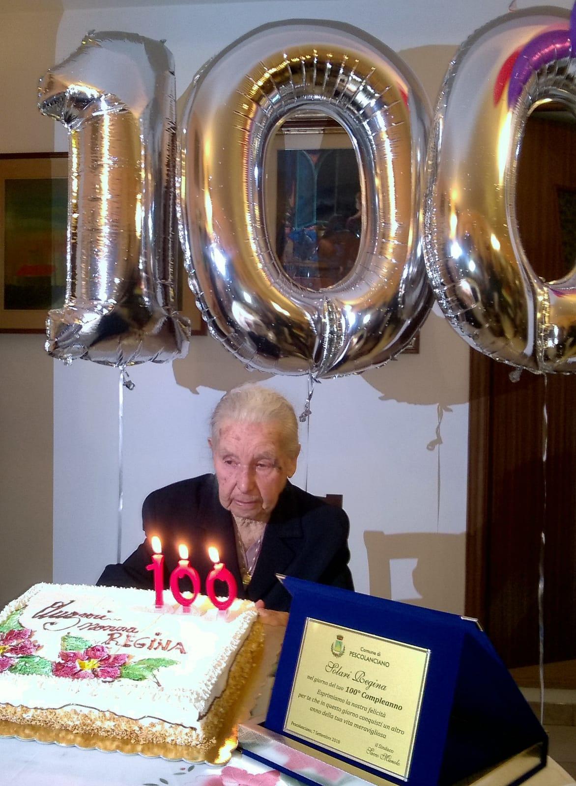Pescolanciano: Solari Regina festeggia i suoi primi 100 anni. Nonna Peppina nel cuore di tutti…gli auguri di familiari e redazione!!!