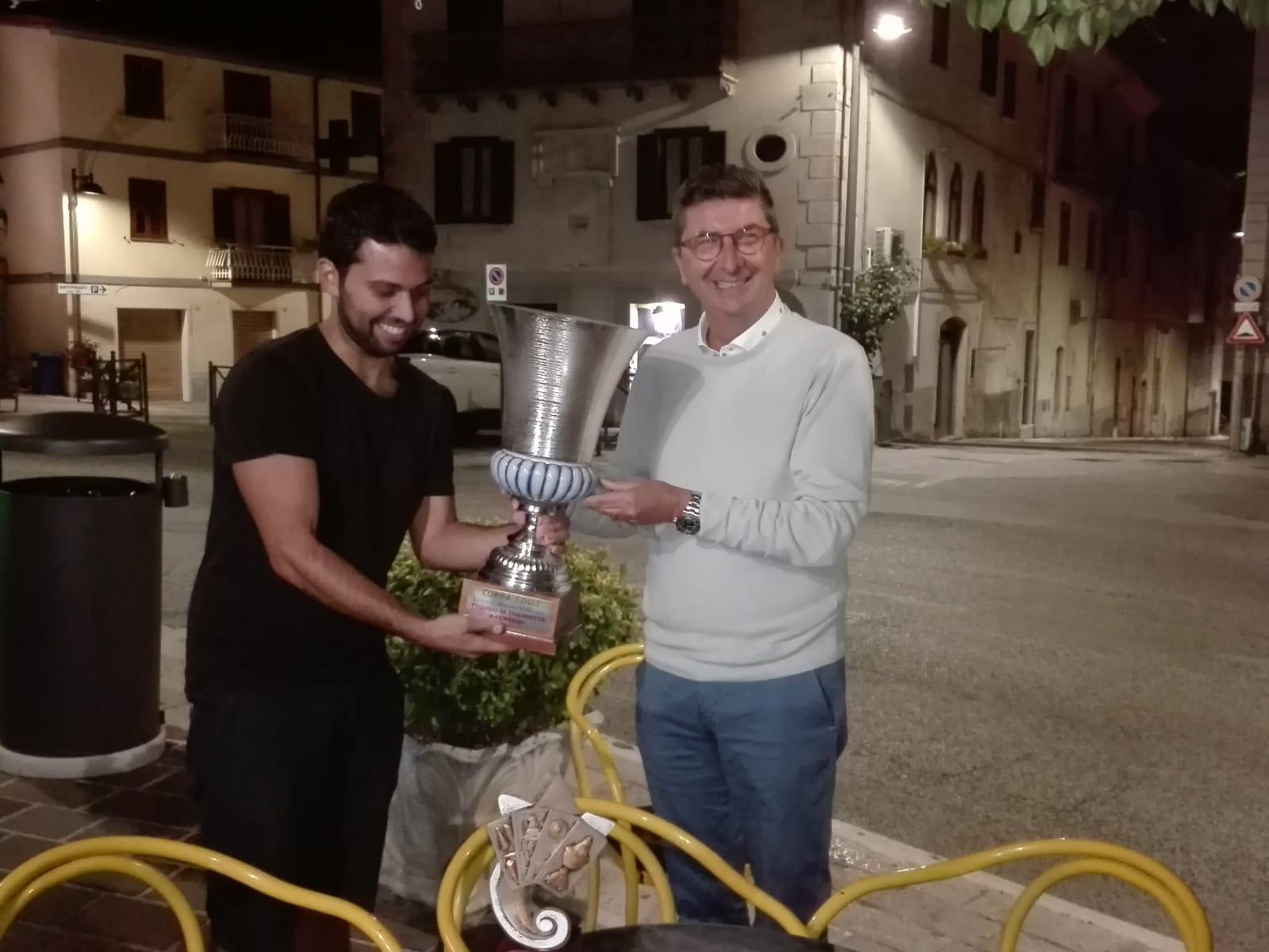 Colli a Volturno: memorial D'Alfonso , Lucio De Bernardo , fa incetta di premi. Vince l'edizione 2018 e si porta a casa anche la coppa dei più titolati del torneo di tressette.