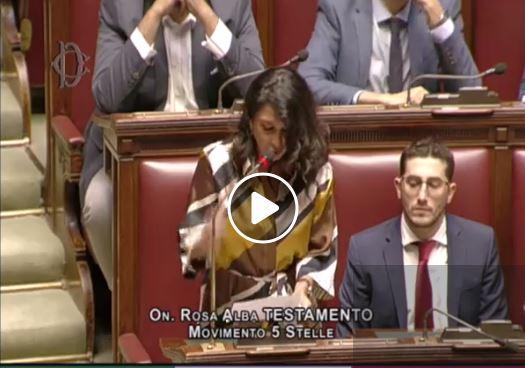 La nostra idea e proposta e le tue parole. Brava Rosa Alba. Nella serata di ieri l'onorevole del Movimento Cinque Stelle ha sollecitato risposta sull'interrogazione presentata sulla statale 158.