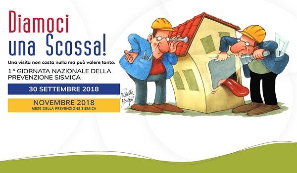 Diamoci Una Scossa, l'Ordine degli Ingegneri della Provincia di Isernia scende in piazza. Domenica 30 settembre la prima giornata nazionale della prevenzione sismica.