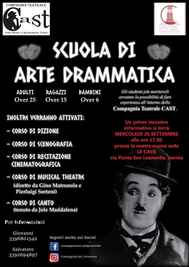 Isernia: Nuova sede e nuova offerta formativa per la compagnia teatrale Cast. Da ottobre al via i corsi per aspiranti artisti locali.