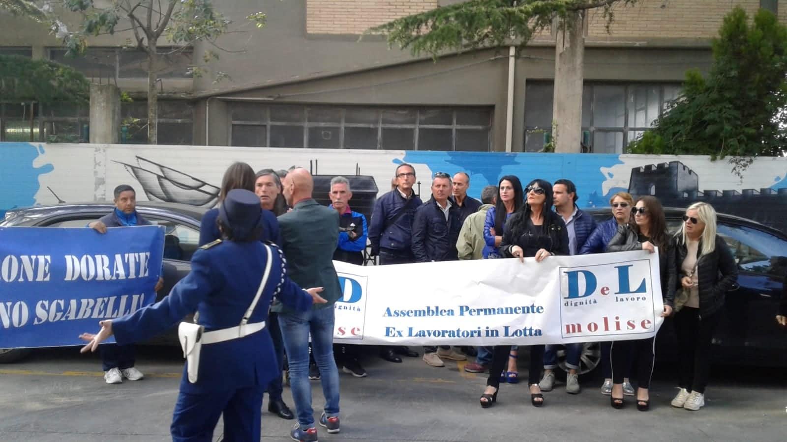 Gli Ex Lavoratori in lotta lunedì si confronteranno con Toma e Di Lucente. Itr, Mobilità in deroga e molto altro da discutere.