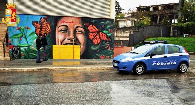 Isernia: individuato dalla Polizia il giovane del posto autore del danneggiamento al murales esterno l'Auditorium Unita' d'Italia.