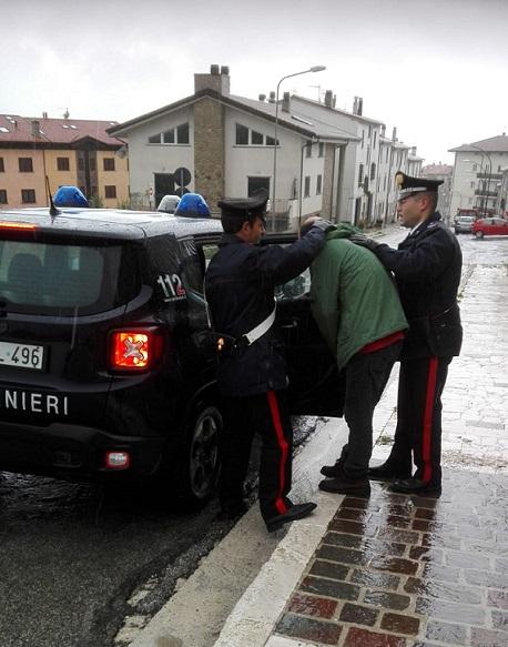Capracotta: Viola l'affidamento ai servizi sociali, arrestato dai Carabinieri.