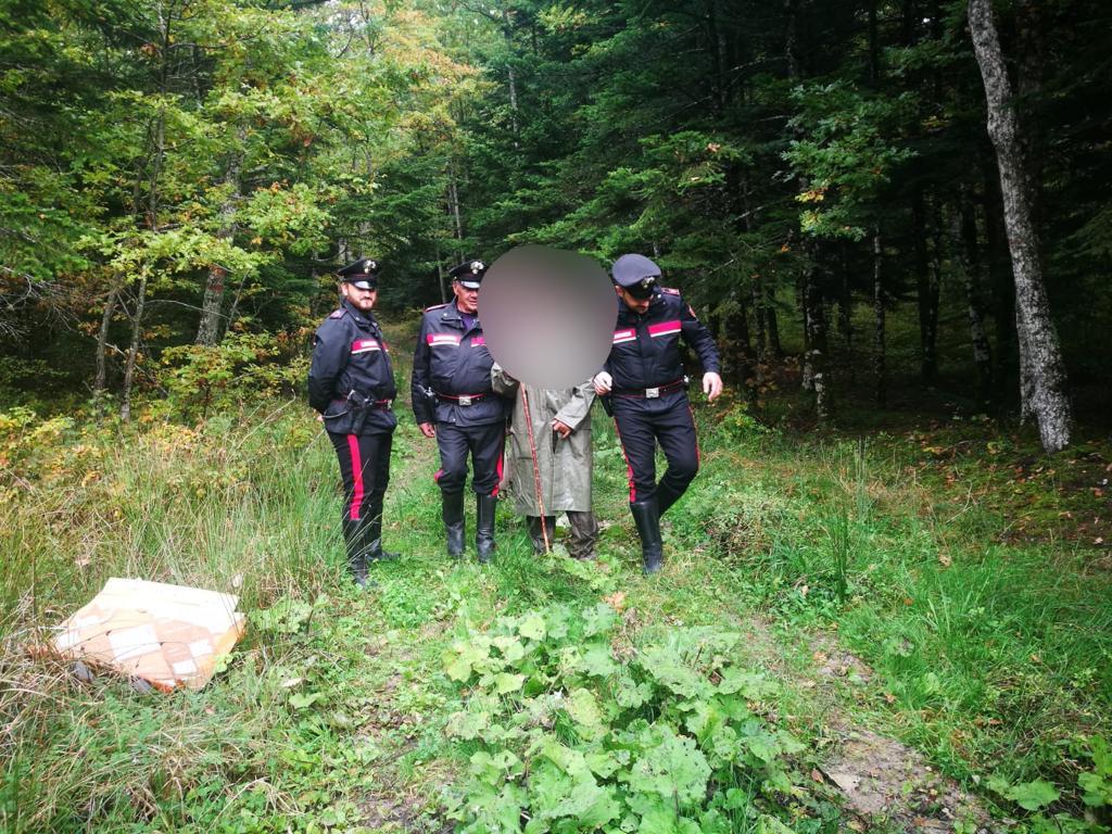 Carovilli : Disperso nel bosco durante ricerca di funghi. Carabinieri di Agnone e Carabinieri Forestali di Carovilli salvano un 60enne .
