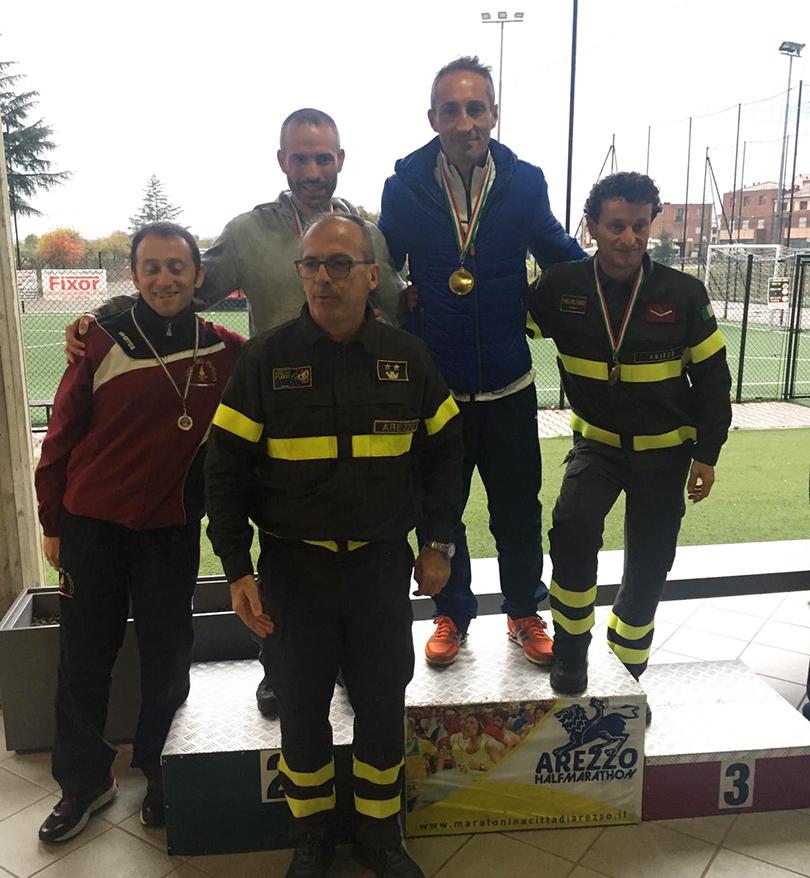 Campionato italiano Mezza Maratona Vigili del Fuoco. Grandi risultati per gli atleti pentri. Longo primo nella categoria SM 40.