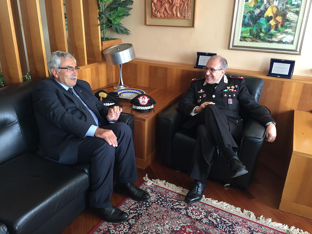 Il Presidente della Provincia Coia ha incontrato il generale Cerrina.