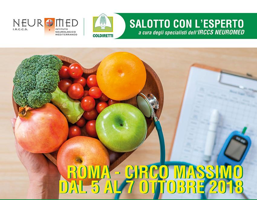 Neuromed e Coldiretti collaborano. L'Ircss Neuromed presente al Circo Massimo dal 5 al 7 ottobre in occasione di un evento nazionale su alimentazione e salute.