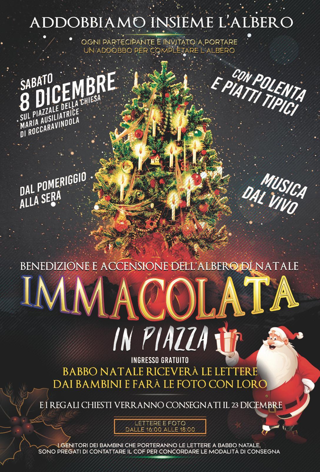 """Roccaravindola: il Natale si accende grazie al Cof, Comitato Organizzatore Feste. Nel pomeriggio di domani l'evento """"Addobbiamo Insieme l'Albero""""."""