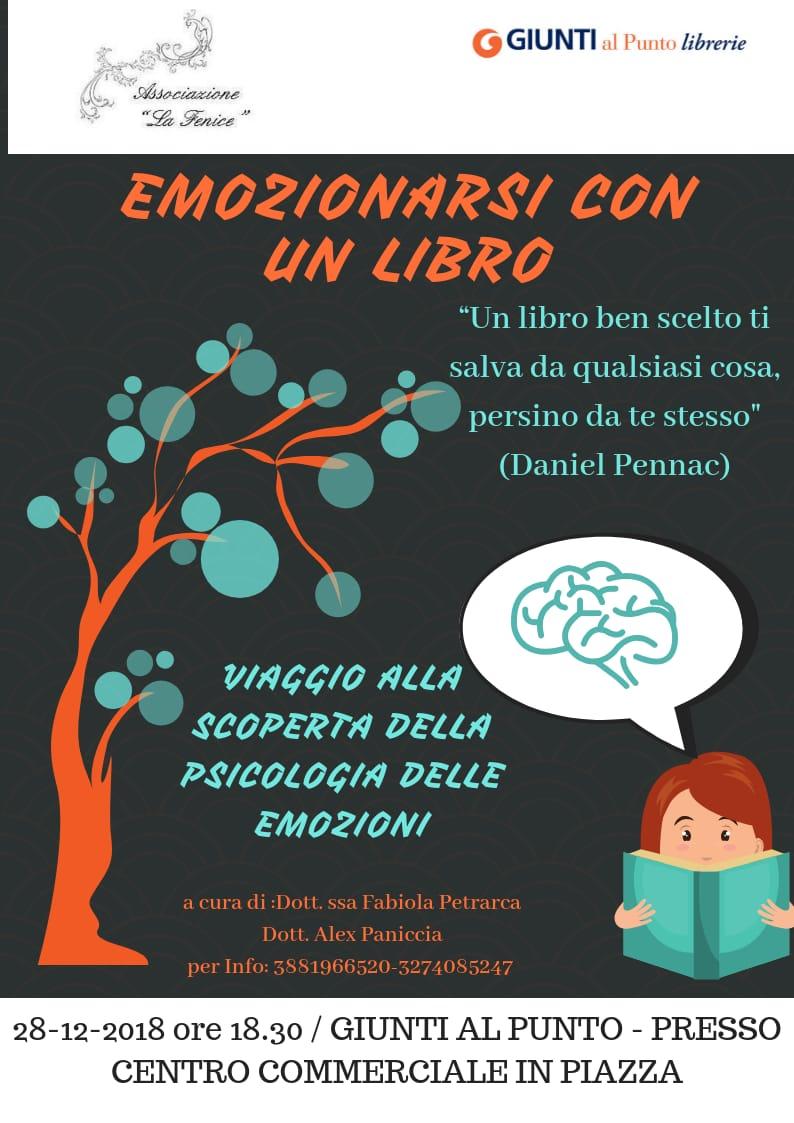 """Isernia: l'associazione """"La Fenice"""" propone l'evento Emozionarsi con un libro. Appuntamento presso la libreria Giunti."""