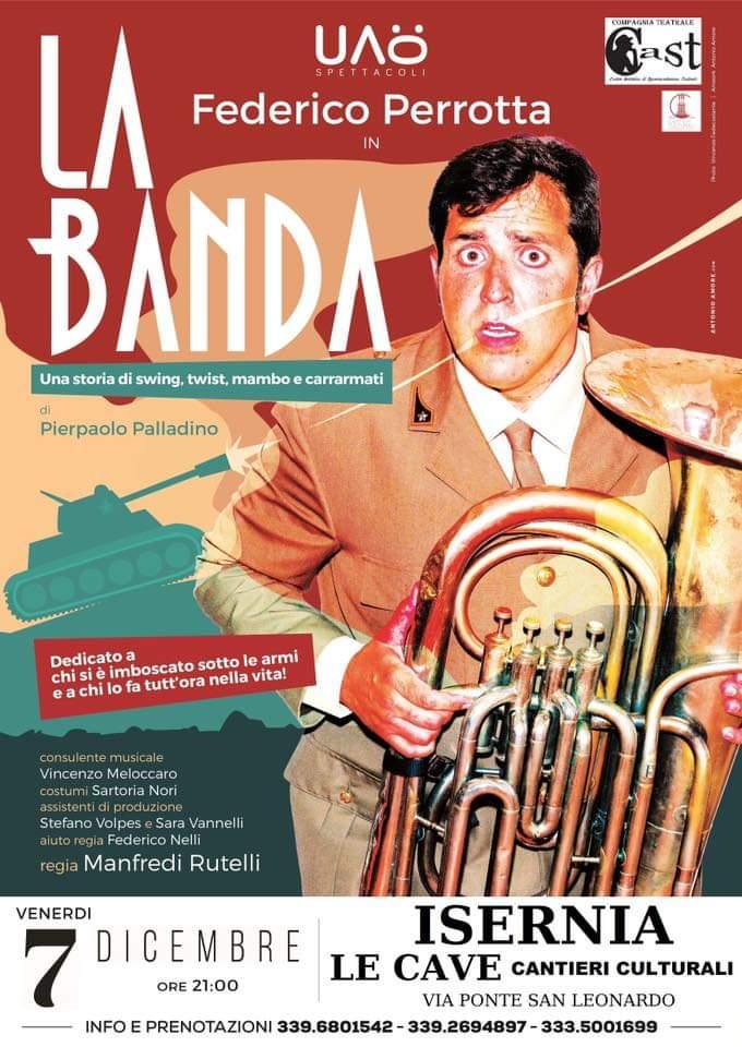 Compagnia Cast, venerdì 7 ospite Federico Perrotta con 'La Banda'