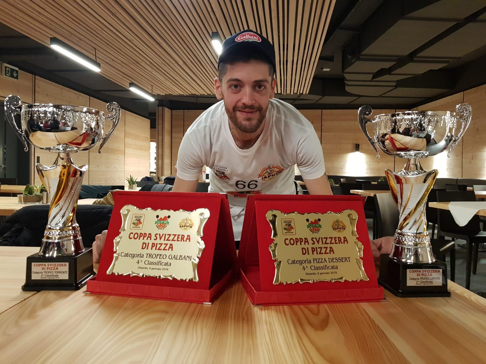Vittorio Cifelli di Pettoranello fa incetta di premi. Il pizzaiolo molisano secondo classificato nella coppa di Svizzera.