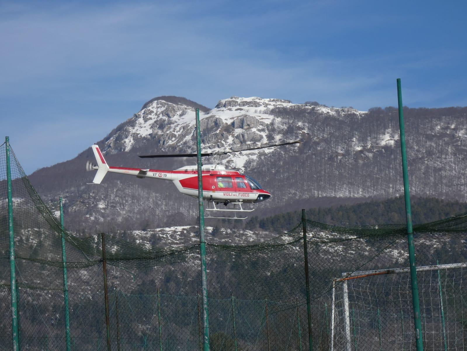 Vastogirardi: proseguono senza sosta le ricerche dell'82 enne scomparsa. Si sta utilizzando anche un elicottero. Nessuna traccia dell'anziana.