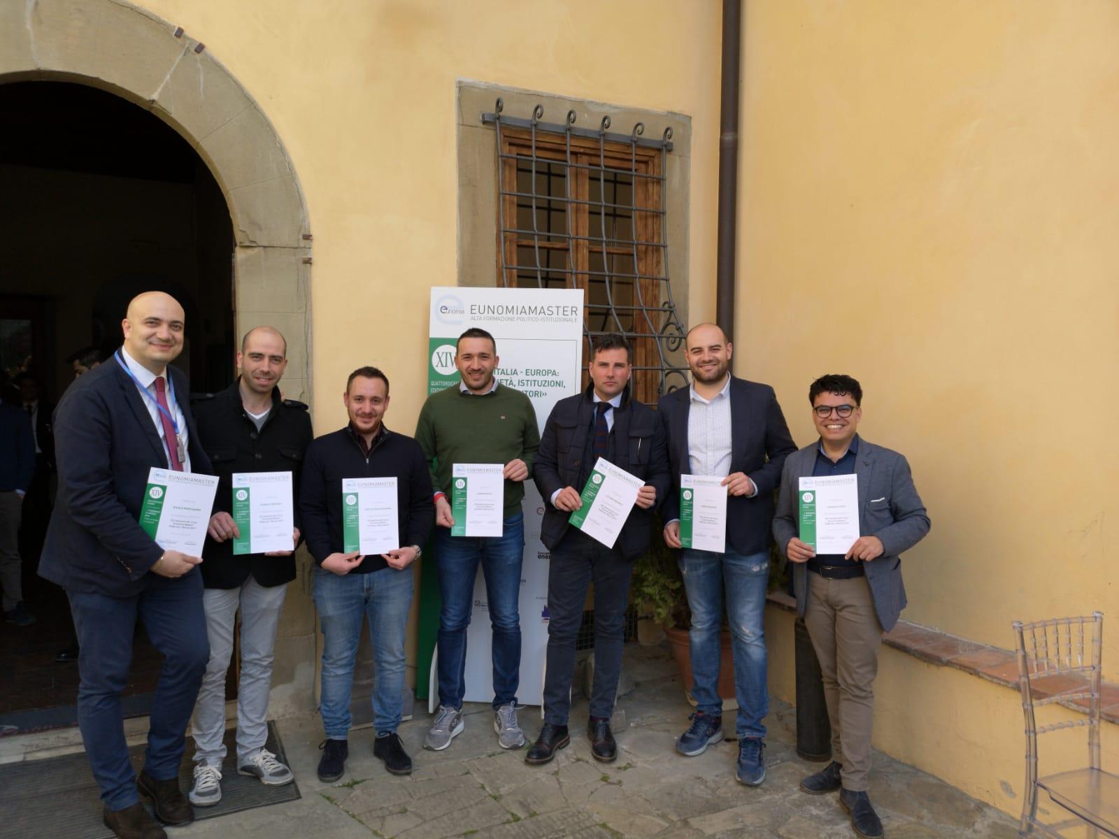 Conclusa l'edizione 2019 di  EUNOMIAMASTER sette giovani amministratori molisani selezionati dalla fondazione di Firenze.