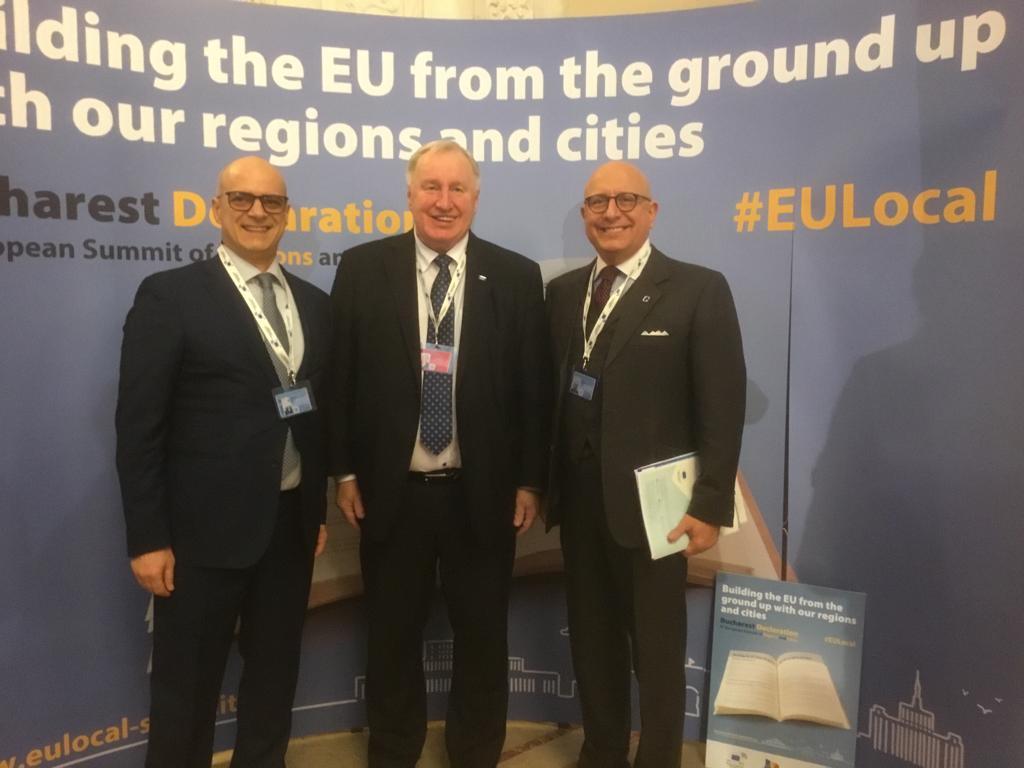 Bucarest: La nuova Unione Europea parte dai territori per Donato Toma