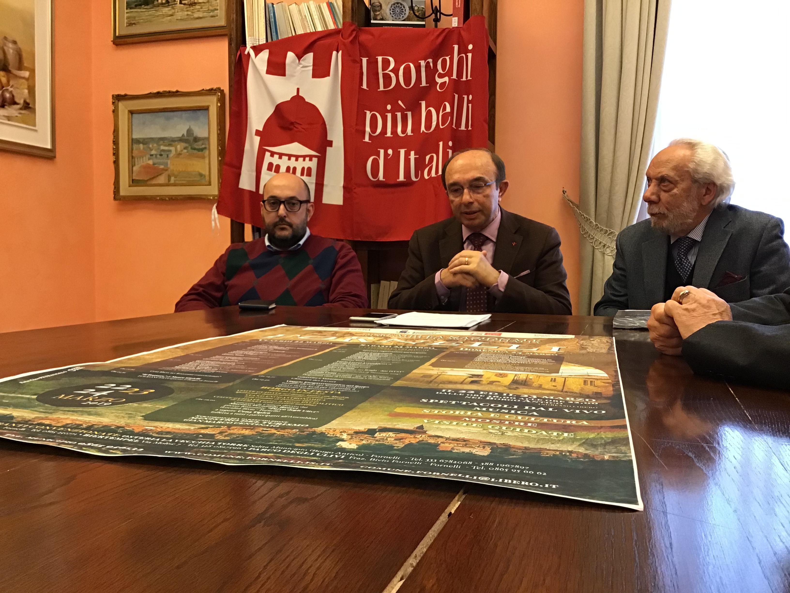 Assemblea Nazionale dei Borghi più Belli d'Italia.  Presentato questa mattina l'evento che si svolgerà a Fornelli dal 22 al 24 marzo 2019.
