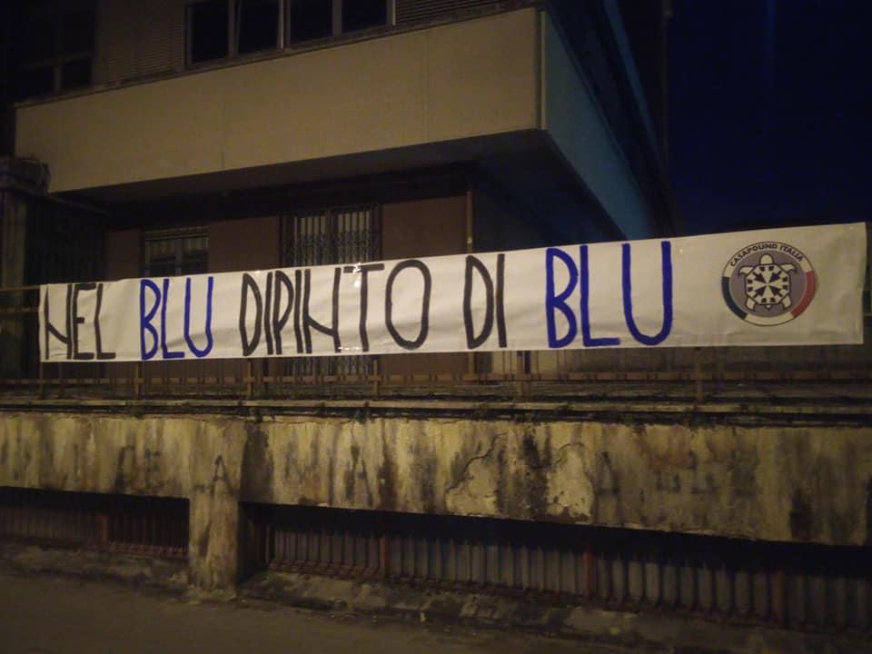 Isernia: 'Nel blu dipinto di blu', striscioni di CasaPound contro i nuovi parcheggi a pagamento