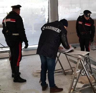 Isernia. Controlli dei Carabinieri sui luoghi di lavoro: denunciato il responsabile di una ditta.