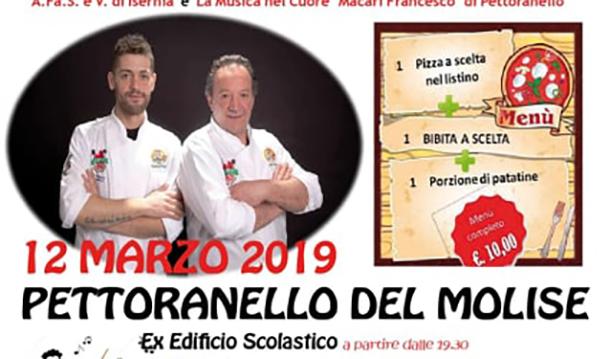 """Pettoranello del Molise: """"Una Pizza per un sorriso"""". L'Unione Pizzaioli molisani e il comune insieme per una serata di solidarietà."""