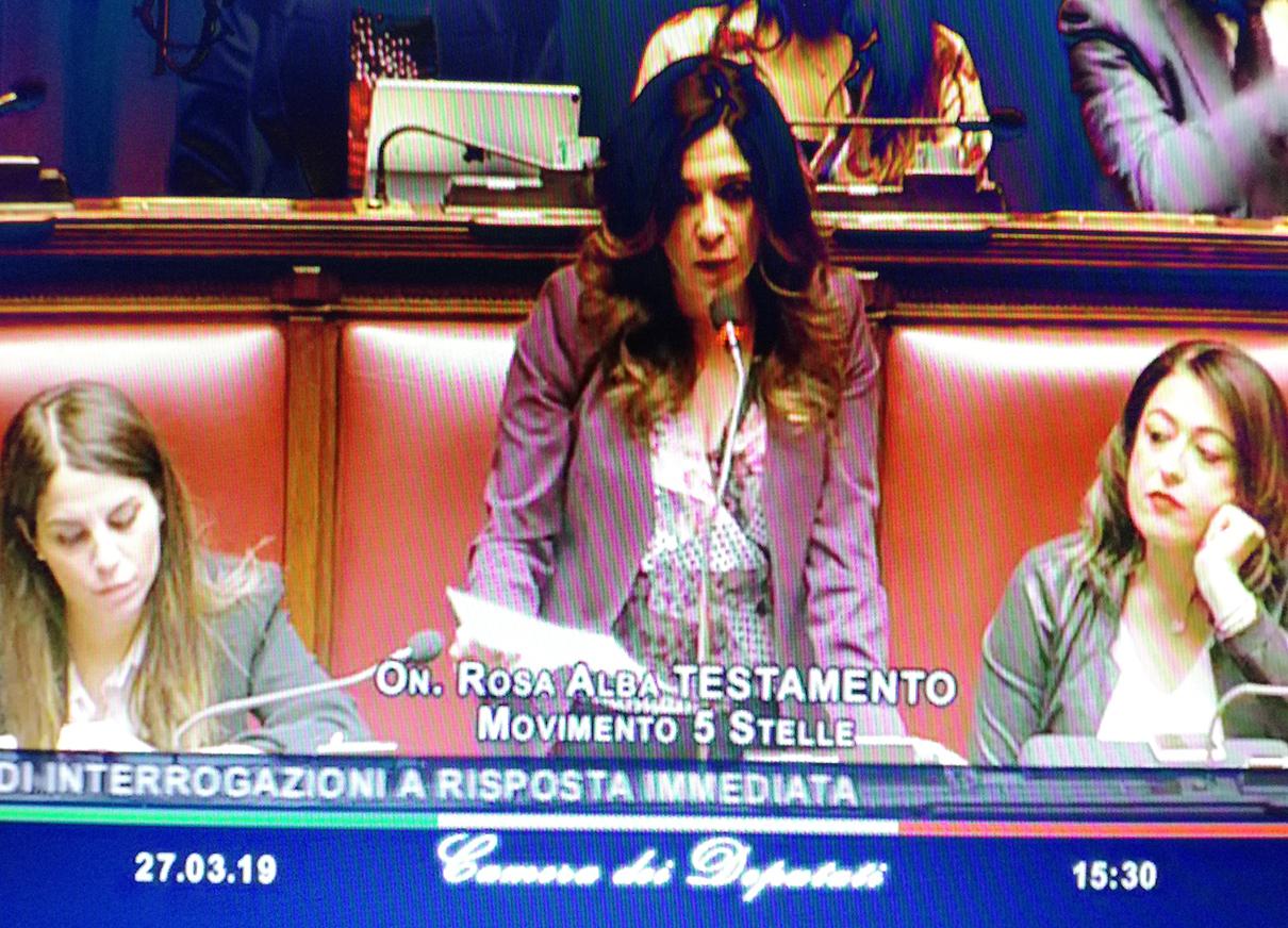 Riconoscimento delle figure professionali per i Beni Culturali. Rosalba Testamento protagonista del question time con il Ministro Bonisoli.