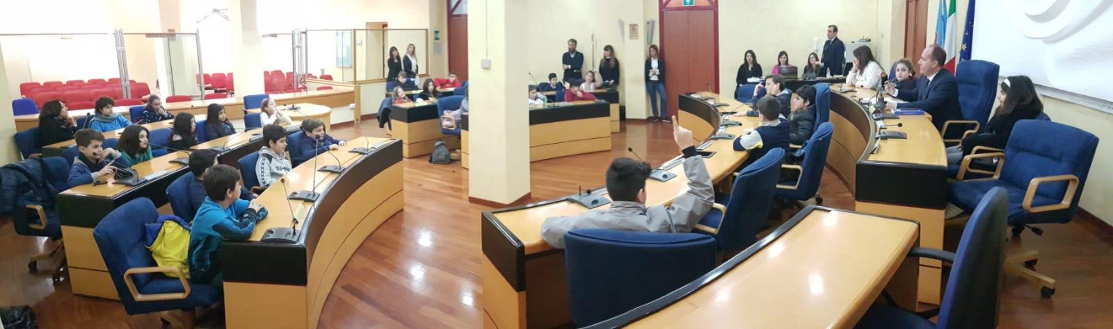 Campobasso: Consiglio regionale a porte aperte per gli studenti del primo circolo didattico di Termoli.