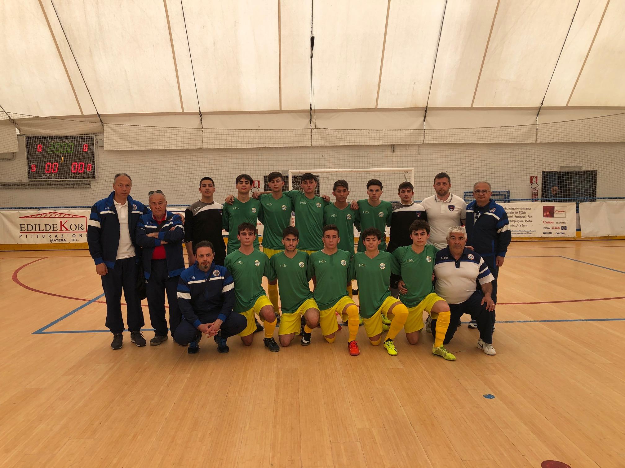 Torneo delle Regioni di calcio a 5: a Matera l'under 17 di mister Matticoli sconfitta dalla Calabria per 9 a 5.