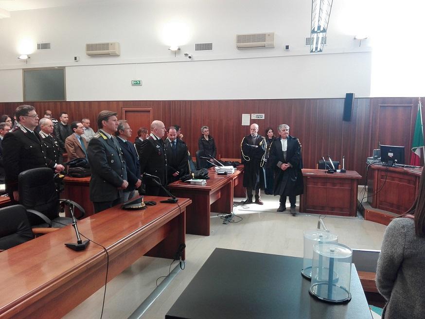 Isernia:  Uccisione del Maresciallo Maggiore Di Gennaro: un minuto di raccoglimento questa mattina al Tribunale di Isernia per onorarne la memoria.