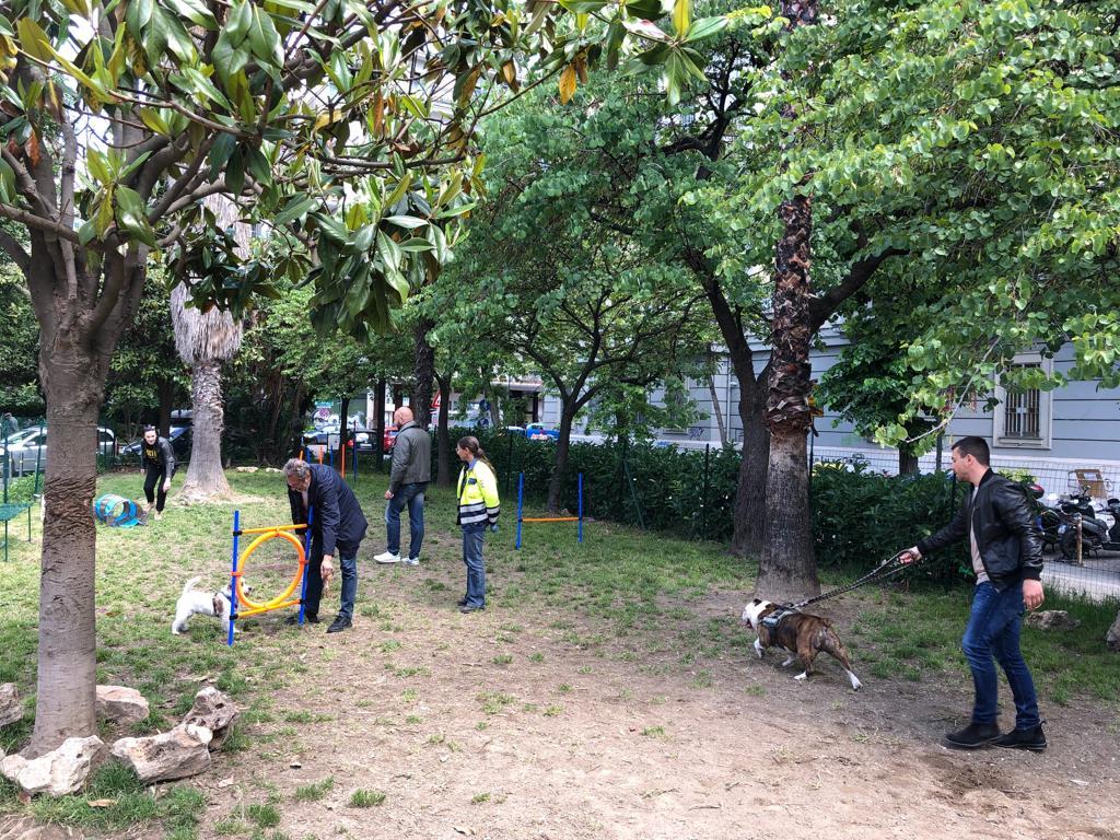 Napoli: al Vomero inaugurata la zona riservata al tempo libero per cani e padroni. Evento patrocinato da una azienda molisana.