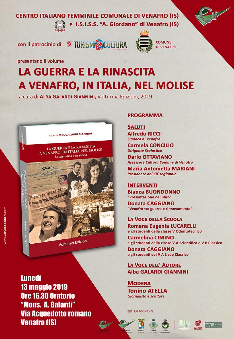 Venafro: si presenta il volume di Anna Galardi sulla Guerra e Rinascita della città