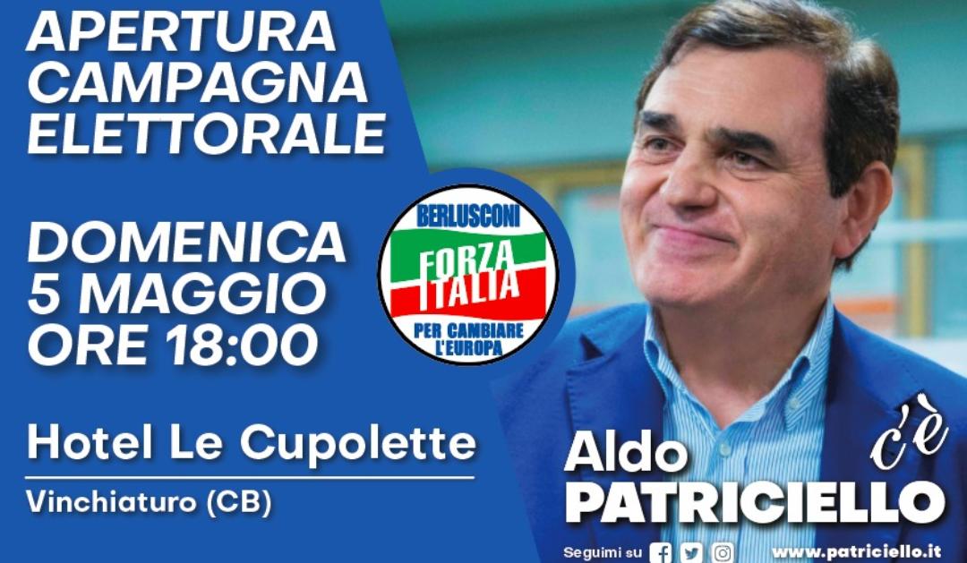 Spazio elettorale: Aldo Patriciello apre la campagna elettorale a Vinchiaturo.