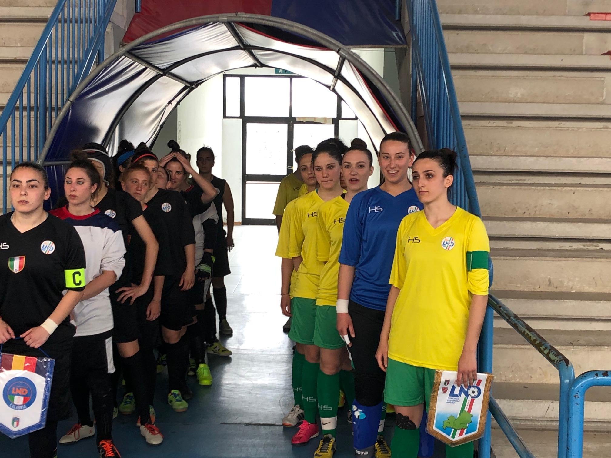 Torneo delle Regioni calcio a 5: la rappresentativa molisana femminile fuori a testa alta.
